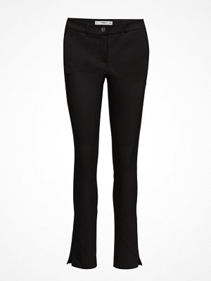 Mango svarta byxor Slim-Fit Cotton-Blend Trousers