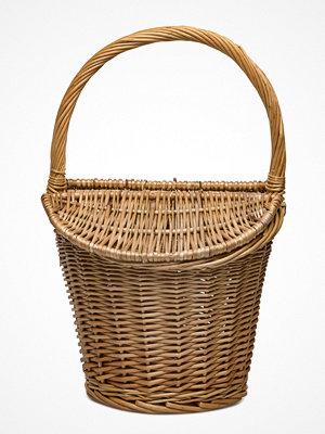 Mango omönstrad weekendbag Bamboo Basket Bag