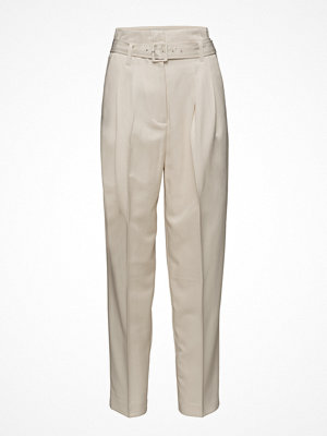 Mango omönstrade byxor Belt Straight-Fit Trousers