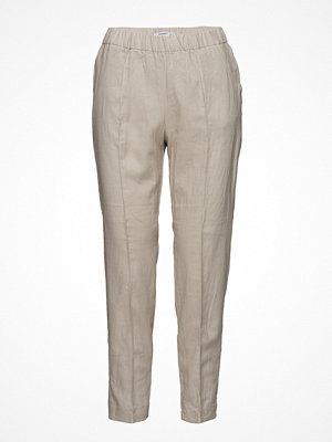 Mango omönstrade byxor Pocket Linen-Blend Trousers