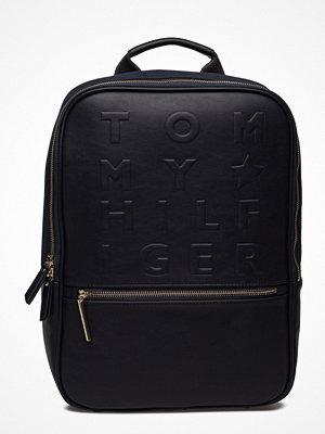 Tommy Hilfiger svart ryggsäck med tryck Logo Story Backpack