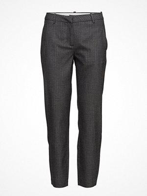 Fiveunits mörkgrå randiga byxor Kylie 572 Crop, Light Grey Stripy, Pants