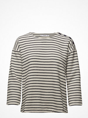Mango Textured Striped Sweatshirt