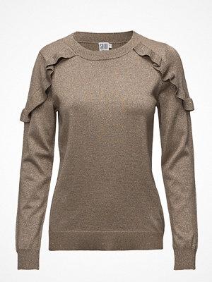 Saint Tropez Glitter Sweater With Ruffles