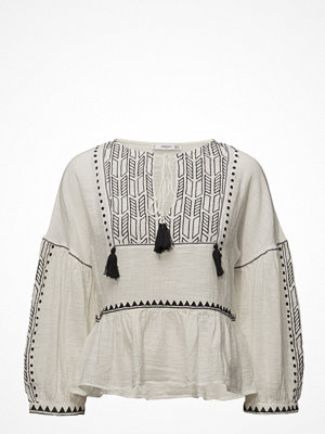Mango Pompom Embroidered Blouse