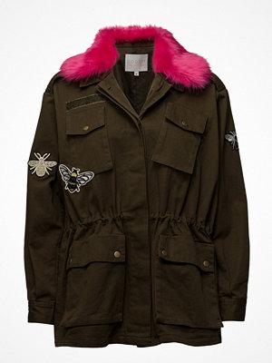 Coster Copenhagen Canvas Army Jacket W. Fur Collar &