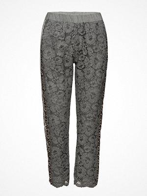 Coster Copenhagen grå byxor Pants W. Lace And Leopard Stribe