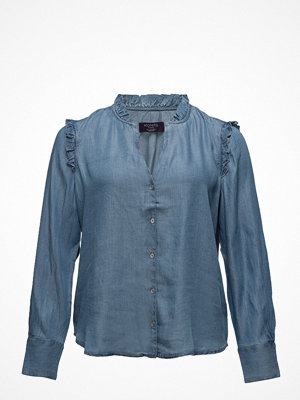Violeta by Mango Ruffled Blouse