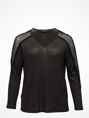 Violeta by Mango Lace Sleeve T-Shirt