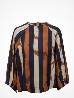Mango Contrasting Print Blouse