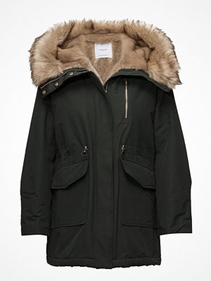 Mango Furry Hooded Parka