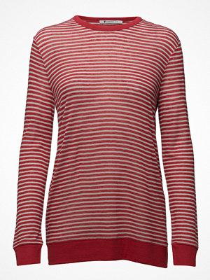 T By Alexander Wang Striped Slub Jersey L/S Tee In Mini Stripe