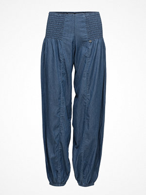 Pulz Jeans marinblå byxor Jill Wide Denim Pant