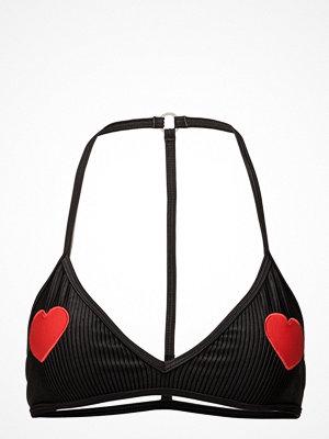 Zoe Karssen Triangle Bikini Top Hearts