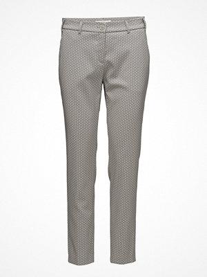 BRAX ljusgrå mönstrade byxor Maron
