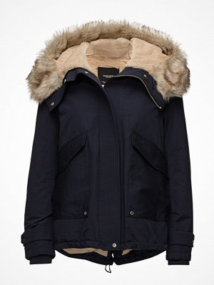 Parkasjackor - Mango Furry Hooded Parka