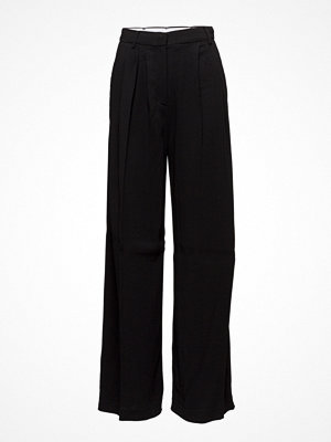 Mango svarta byxor High-Waist Suits Trousers