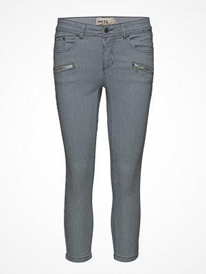 Imitz grå byxor Capri Pants-Denim