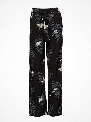 Desigual svarta byxor med tryck Pant Gabi