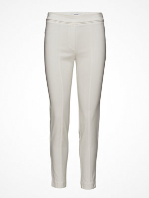 Mango ljusgrå byxor Zip-Pocket Slim-Fit Trousers