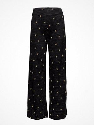 Stine Goya svarta byxor med tryck Magic, 343 Stars Knit