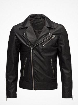 Skinnjackor - Selected Homme Shnseb Biker Leather Jkt