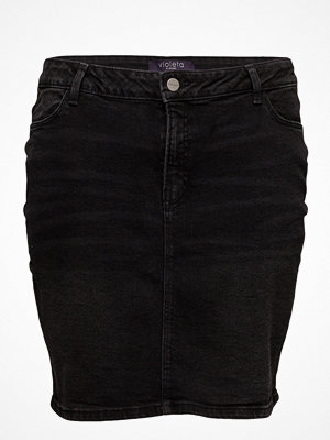 Violeta by Mango Dark Denim Skirt