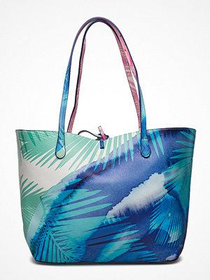 Desigual Accessories mönstrad shopper Bols Blue Palms Capri