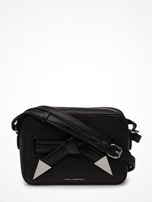 Karl Lagerfeld bags svart axelväska K/Rocky Bow Camera Bag