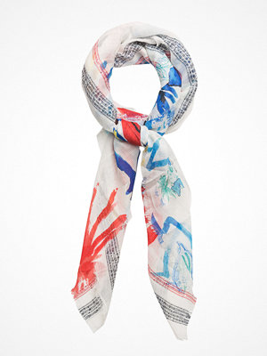 Halsdukar & scarves - Desigual Accessories Foulard Blue Flower