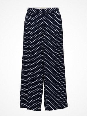 Michael Kors marinblå byxor med tryck Wide Leg Crp Pant