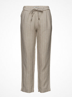 Mango randiga byxor Bow Linen Trousers