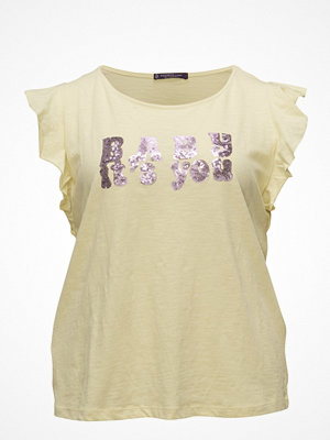Violeta by Mango Sequined Message T-Shirt