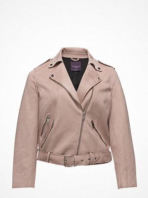 Violeta by Mango Faux Suede Biker Jacket