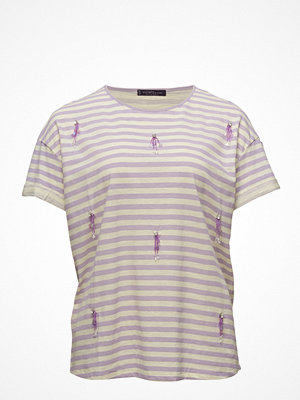 Violeta by Mango Appliqus Striped T-Shirt
