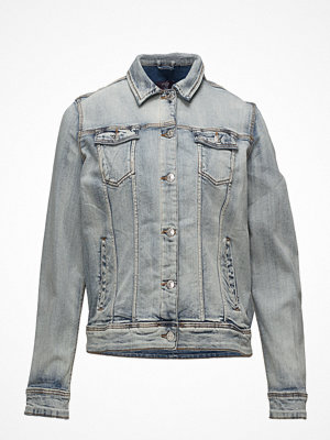 Violeta by Mango Bleached Denim Jacket