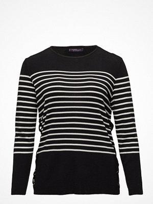 Violeta by Mango Side Lace-Up Striped Sweater