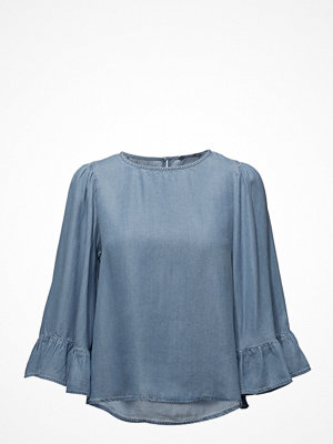 Only Onlhaley Big Sleeve Frill Dnm Top Qyt
