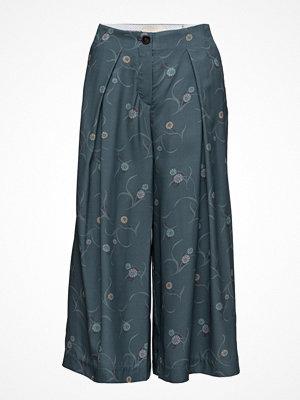 Noa Noa mörkgrå byxor med tryck Trousers