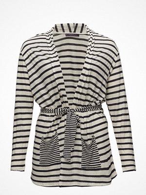 Violeta by Mango Contrast Striped Cardigan