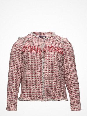 Violeta by Mango Fringed Tweed Jacket