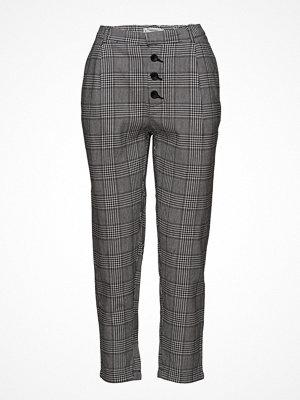 Mango grå rutiga byxor Prince Of Wales Suit Trousers