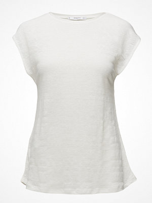 Mango Trim Linen-Blend T-Shirt