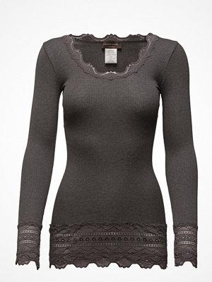 Rosemunde Silk T-Shirt Medium Ls W/Wide Lace