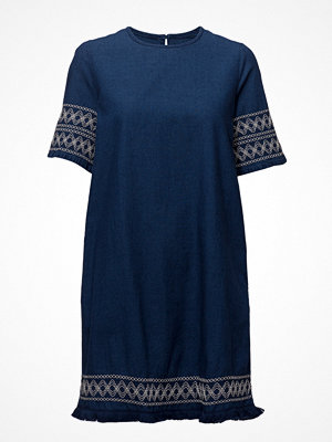 Mango Embroidered Denim Dress