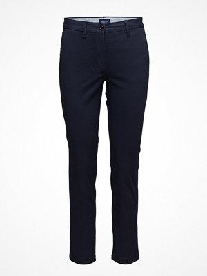 Gant marinblå byxor Classic Cropped Chino