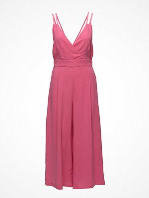 Violeta by Mango Cut-Out Detail Linen-Blend Jumpsuit