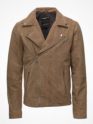 Skinnjackor - Selected Homme Shxbilly Suede Biker Jacket