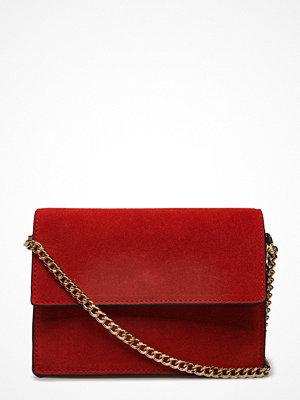 Mango mörkröd axelväska Leather Cross Body Bag