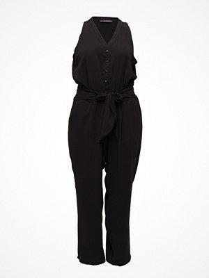 Violeta by Mango Bow Long Jumpsuit